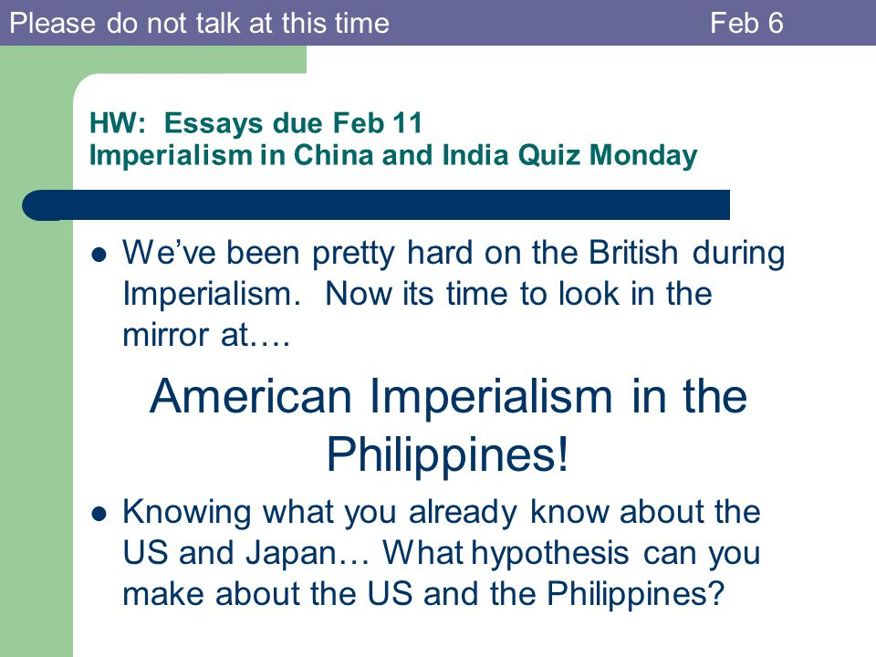essays on imperialism Politics the effects of imperialism are both positive and negative the positive effects are banning inhumane traditional practices such as sati and the dowry system, promoting widow remarriage and prohibiting child marriage.