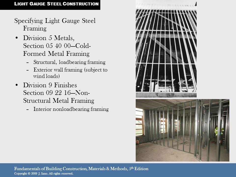 Light Gauge Steel Construction  Light Gauge Metal Framing