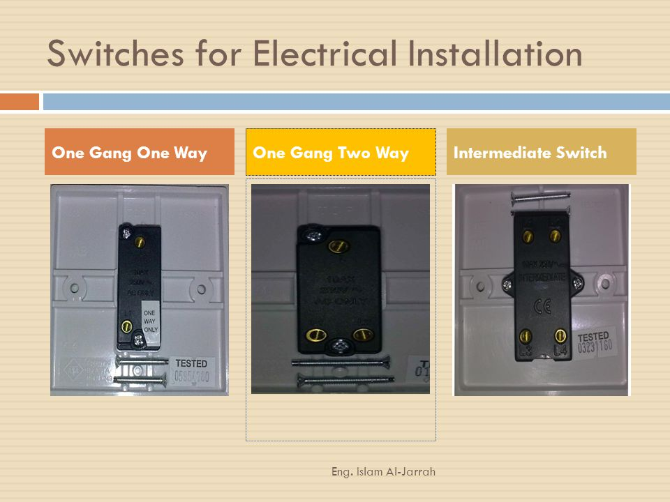 Switches for Electrical Installation