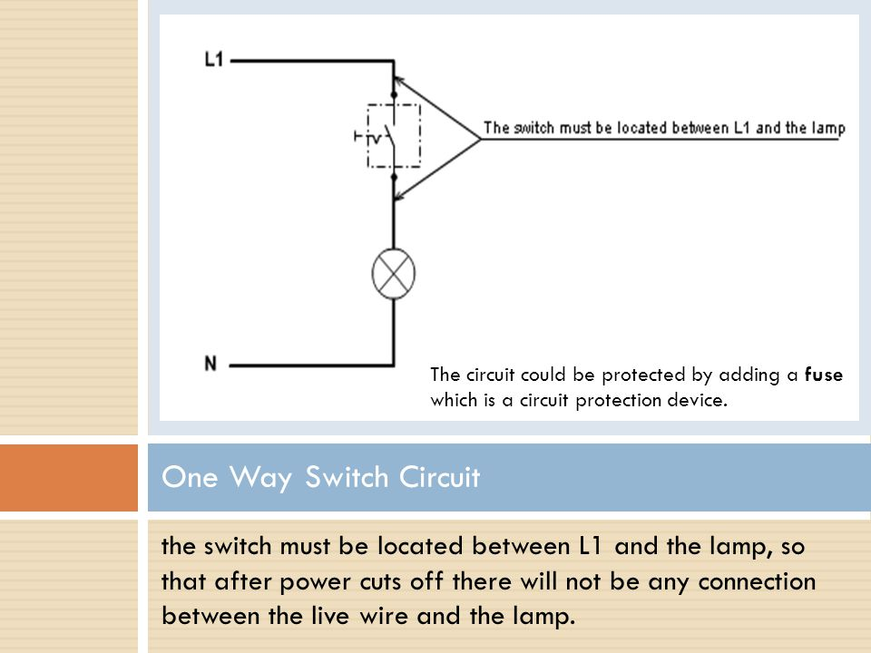 The circuit could be protected by adding a fuse which is a circuit protection device.