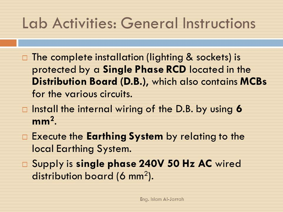 Lab Activities: General Instructions