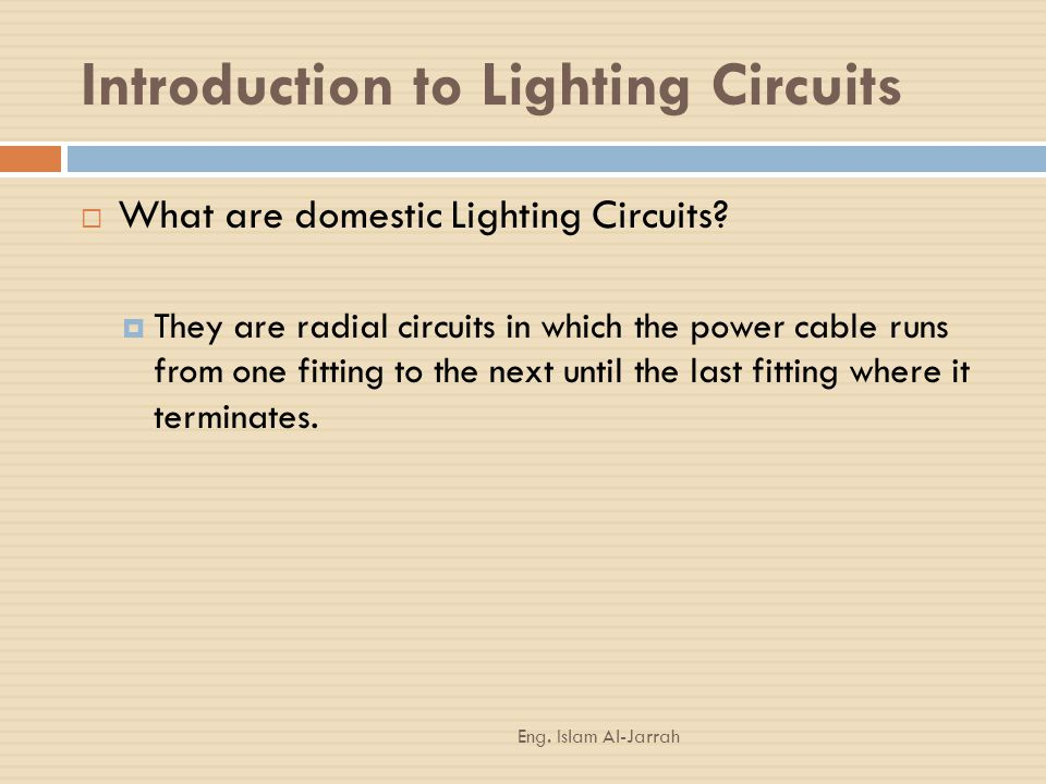 Introduction to Lighting Circuits
