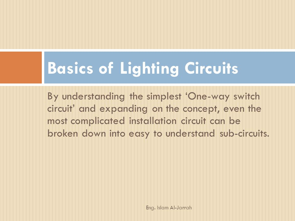Basics of Lighting Circuits