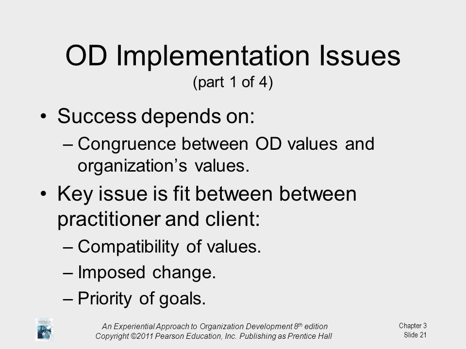 OD Implementation Issues (part 1 of 4)