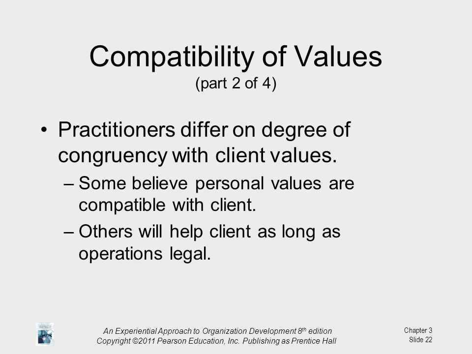Compatibility of Values (part 2 of 4)