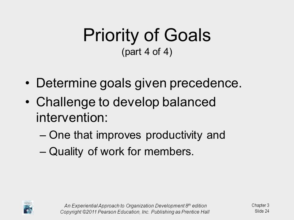 Priority of Goals (part 4 of 4)