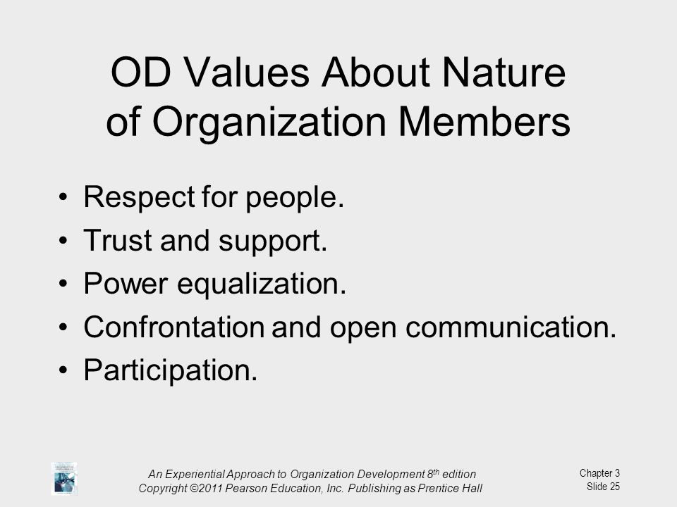 OD Values About Nature of Organization Members