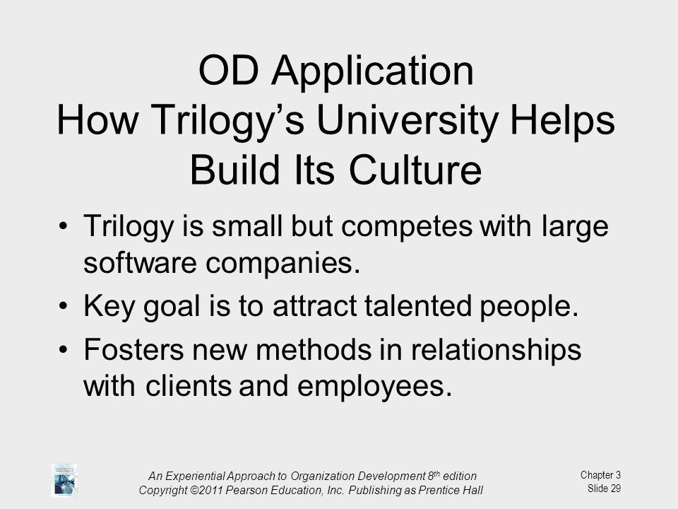 OD Application How Trilogy's University Helps Build Its Culture