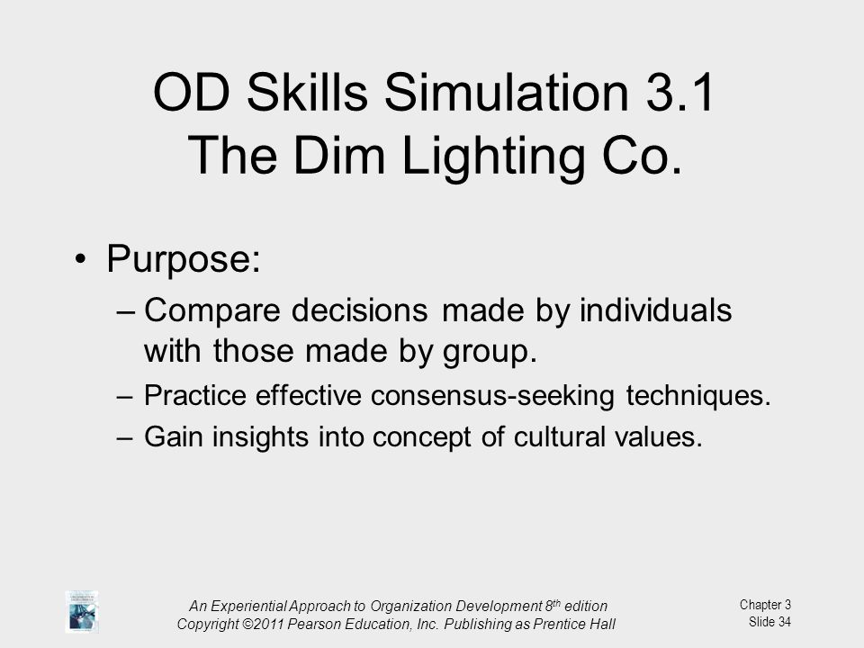 OD Skills Simulation 3.1 The Dim Lighting Co.