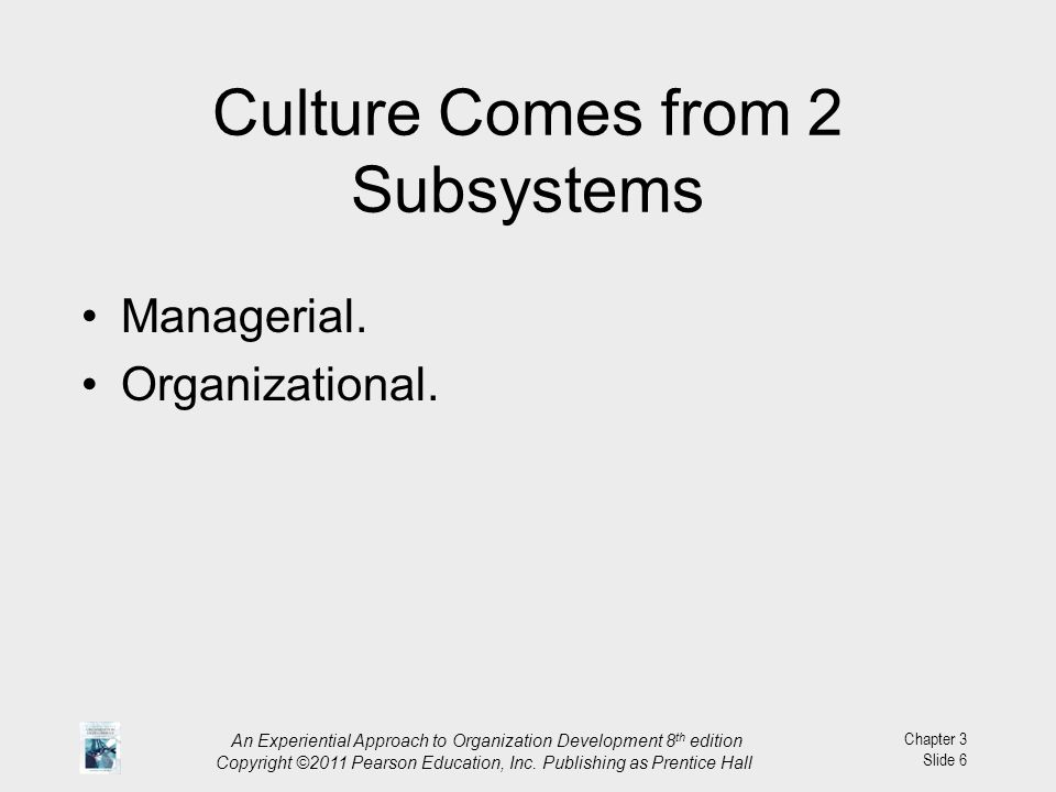 Culture Comes from 2 Subsystems