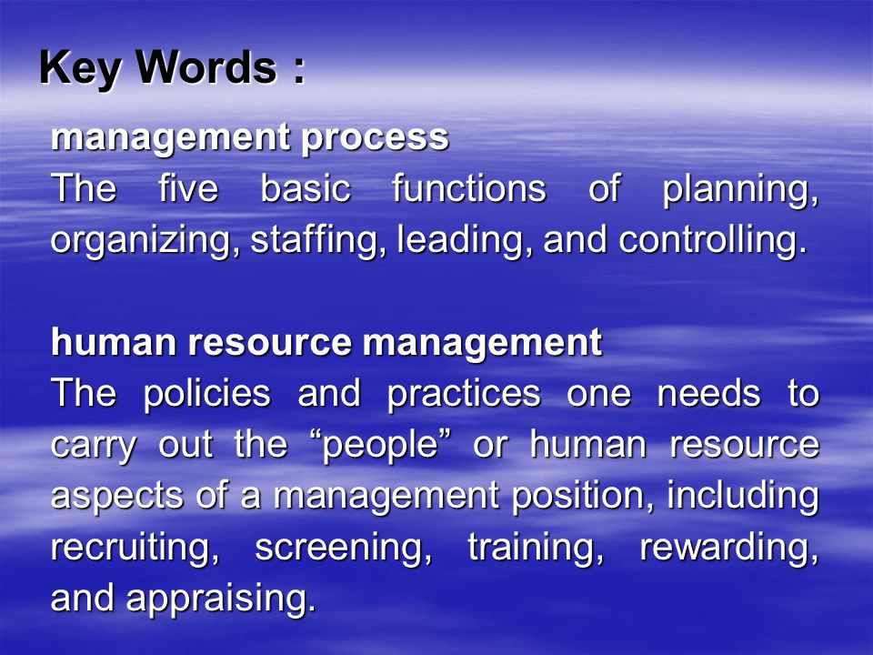 human resource management key terms and 3 primary responsibilities of a human resource manager 4 key functions of an hr  including journals and textbooks that focus on human resources management practices she holds a master of arts.
