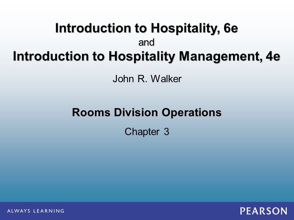 rooms division operation management