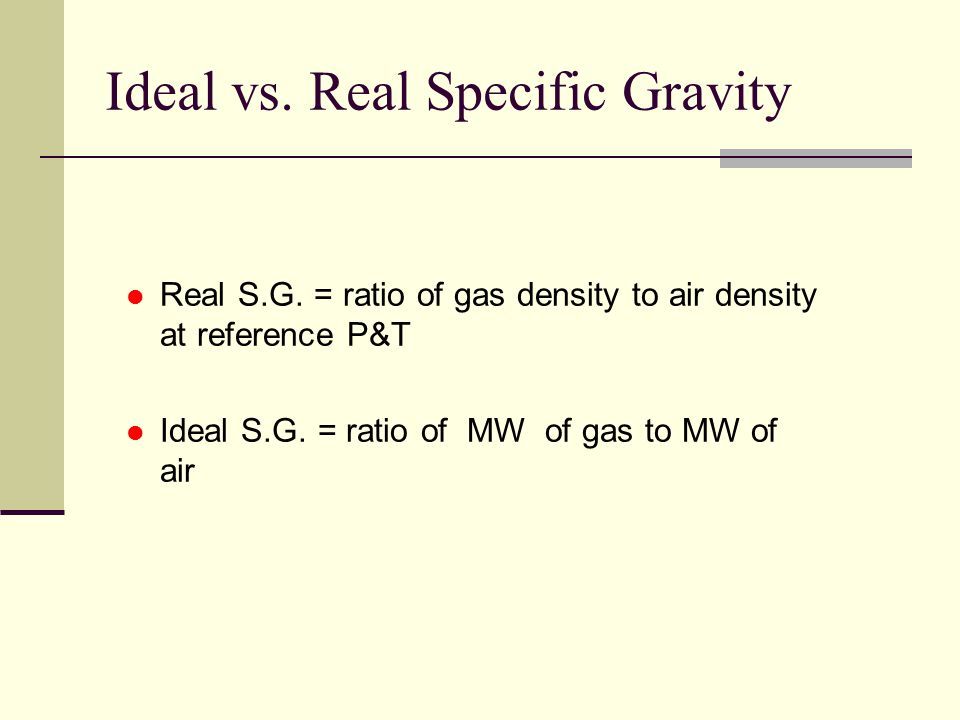 how to find density from specific gravity