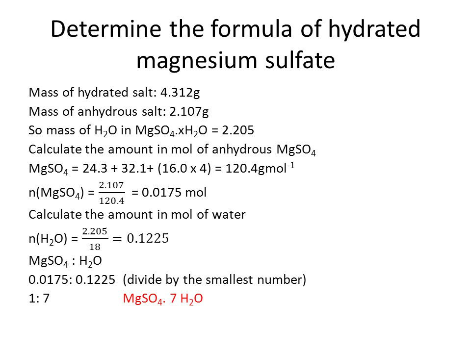 determination of water in a hydrate Study chemistry 212 determination of water of hydration lab report notes.