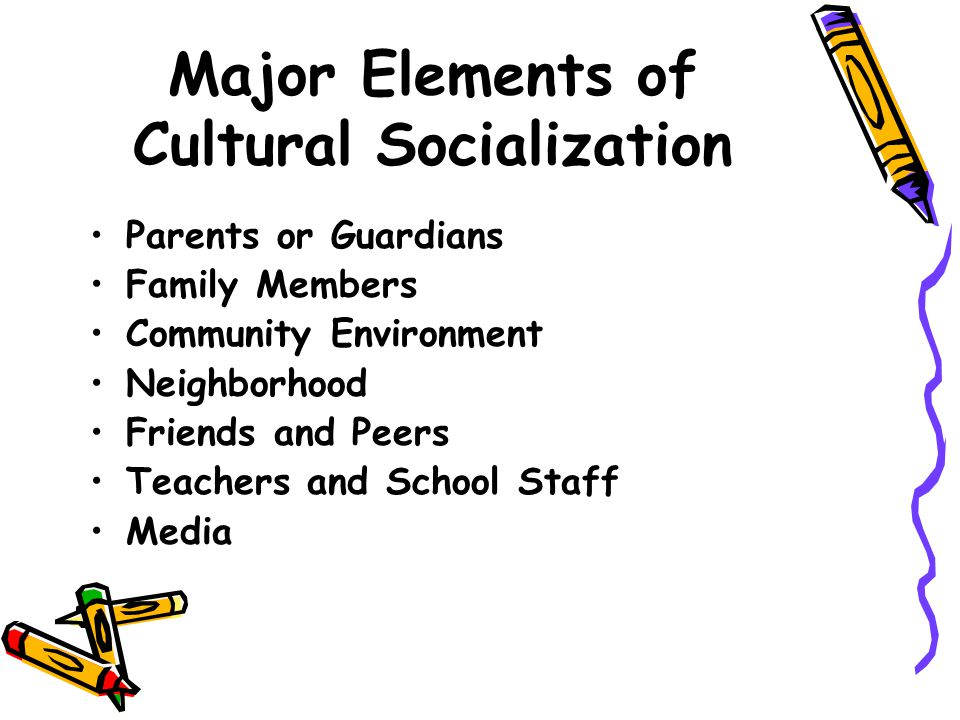 the impact of socialization with family and peers on the formation of personality In family, we develop our personality, and we develop our ability in school an important aspect of socialization is gender socialization, or the ways in which we learn our gender identity and develop according to cultural norms of masculinity and femininity.