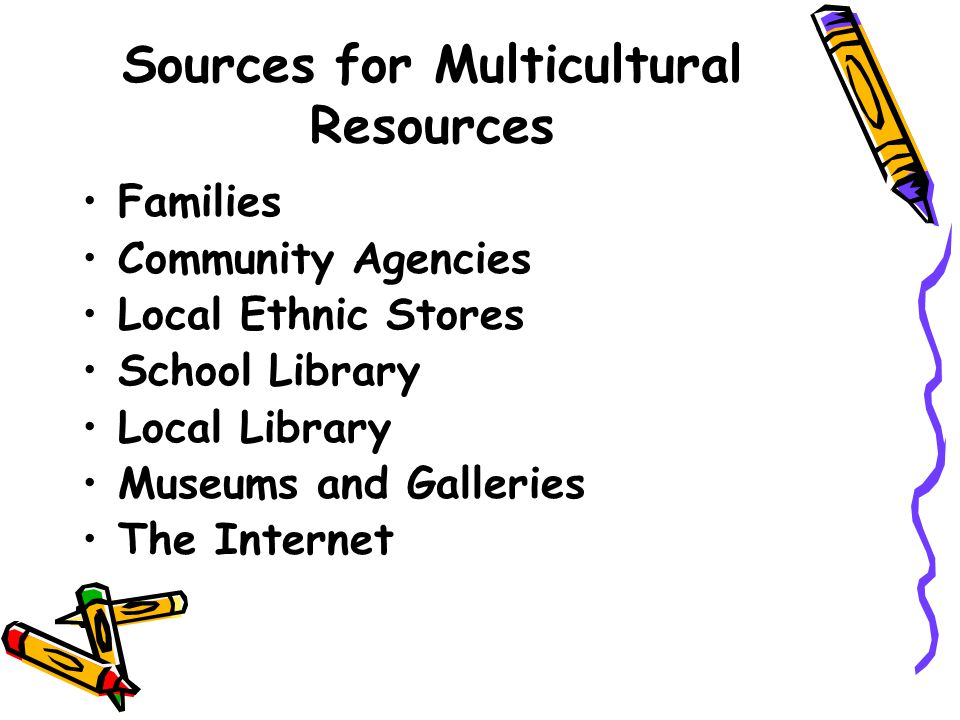 a look at multicultural education sources on the internet Resources especially for child care providers and preschools  care area and provides a resource list on sources of  education course, watch me.