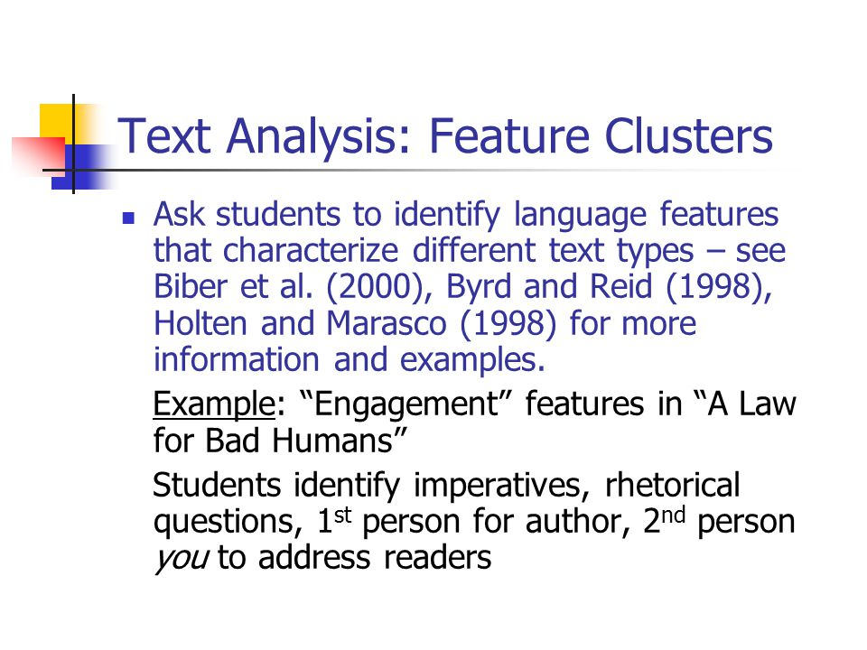 Text Analysis: Feature Clusters