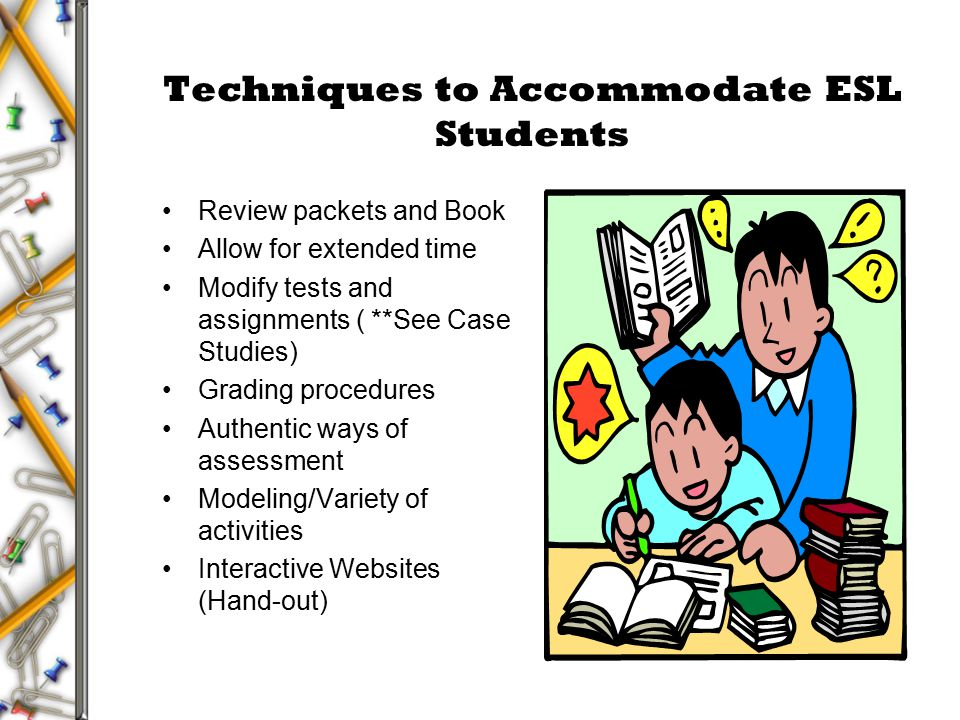 Accommodating esl students