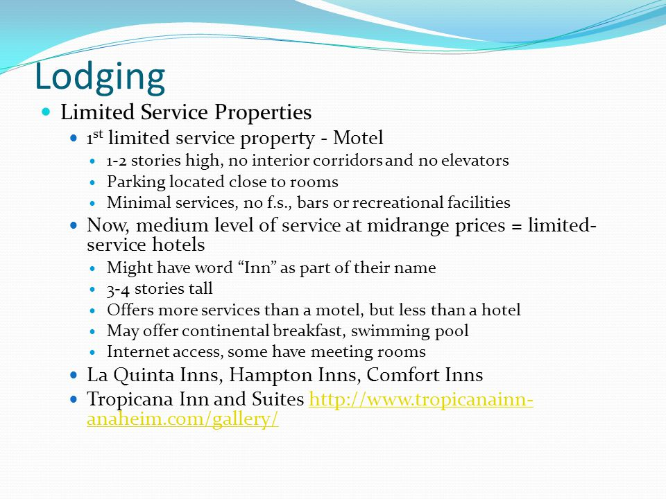 Lodging Limited Service Properties