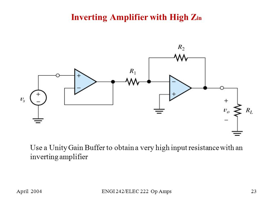 Inverting Amplifier with High Zin