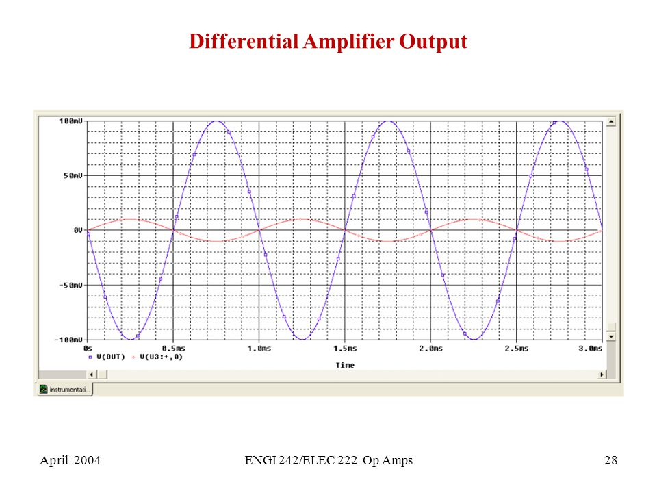 Differential Amplifier Output