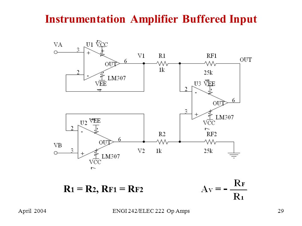 Instrumentation Amplifier Buffered Input