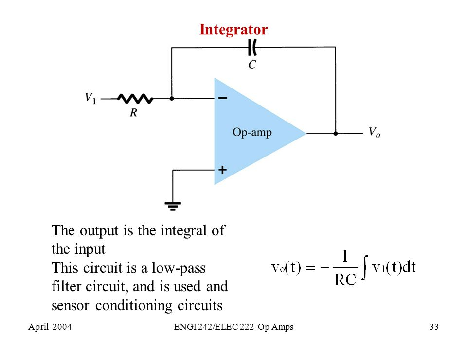 The output is the integral of the input