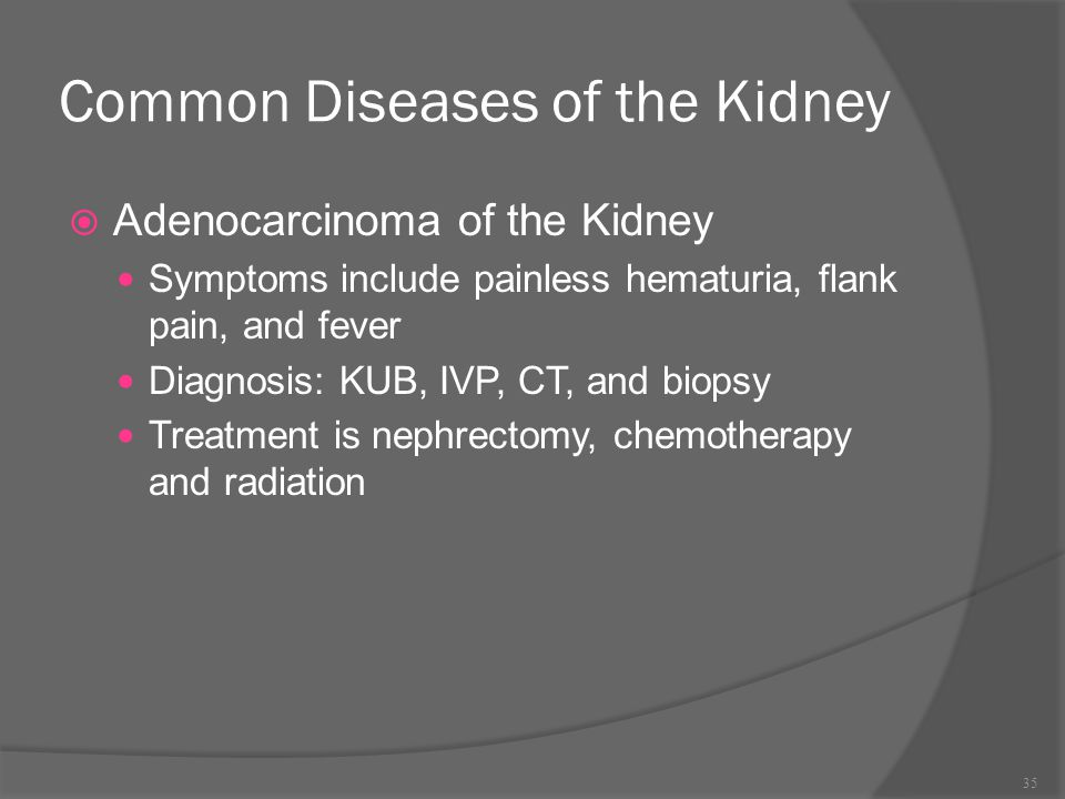 Common Diseases of the Kidney