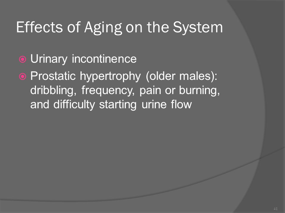 Effects of Aging on the System