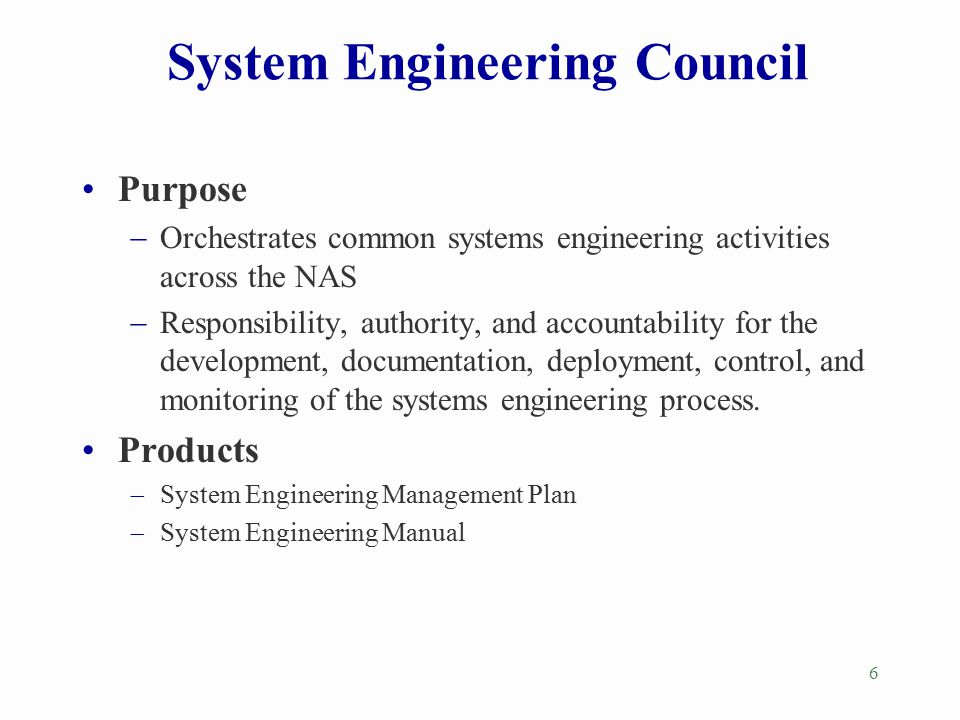 System Engineering Council