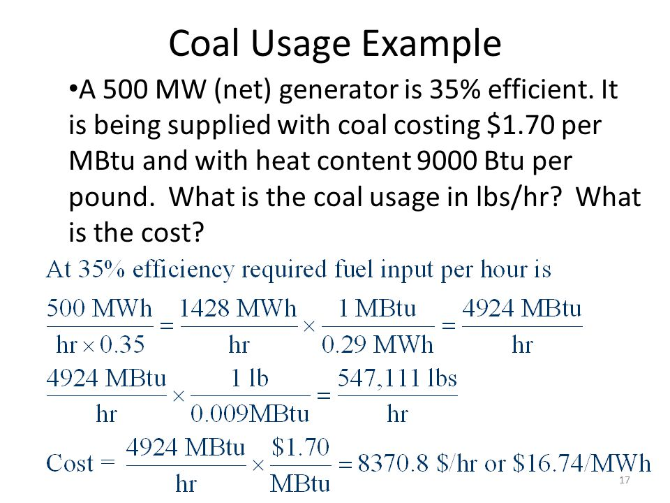 Coal Usage Example