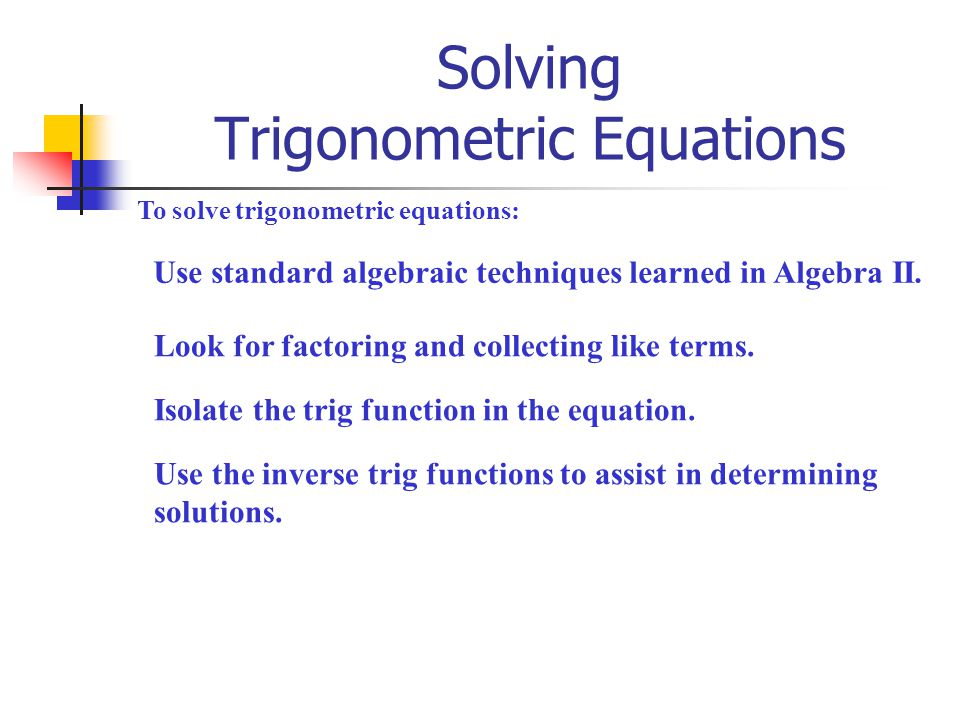 Solving Trigonometric Equations ppt download – Trig Equations Worksheet