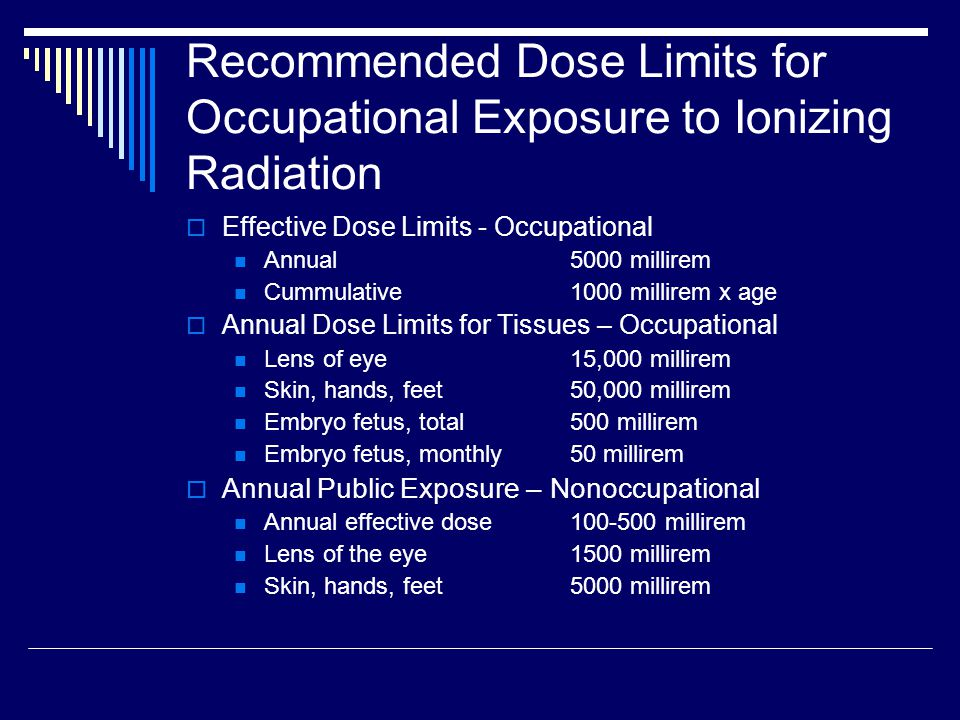 What is radiation dose?