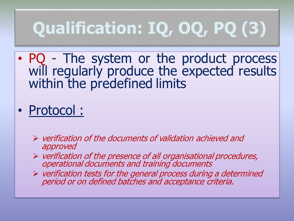 iq oq pq validation templates - qualification and validation an overview ppt download