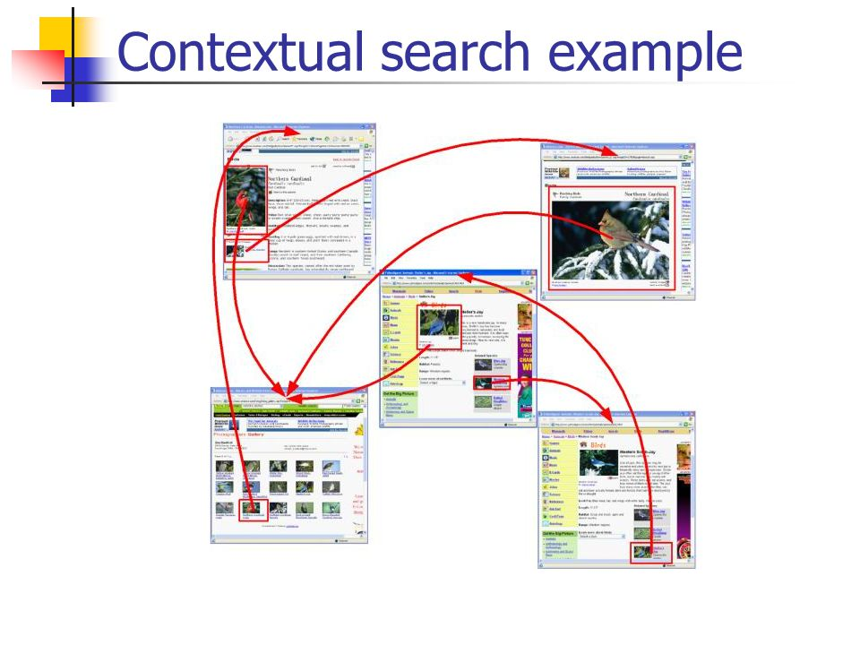 Contextual search example