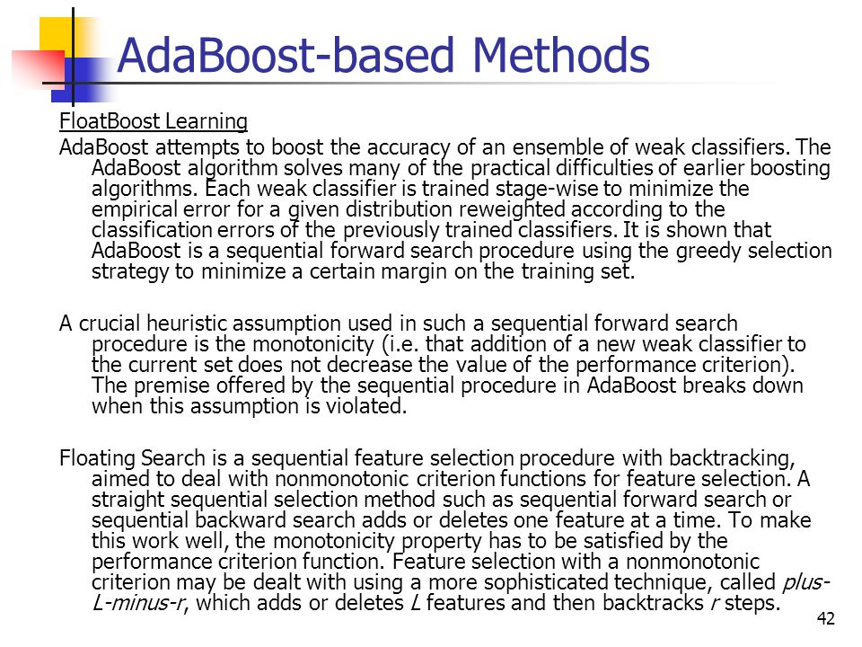 AdaBoost-based Methods