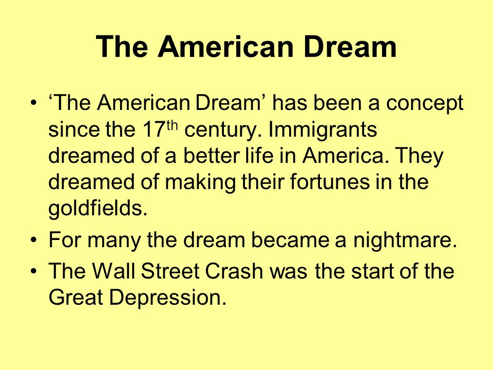 living the american dream of mice Learn about important themes in of mice and men by john steinbeck those discussed here include friendship, struggle, and the american dream an overview of different methods of interpretation is provided.