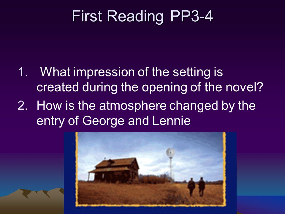 john steinbeck creates vivid atmosphere in of mice and men This of mice and men: chapter 5 & 6 reading and study guide lesson plan  this of mice and men:  lead your class through john steinbeck's of mice and men with a.