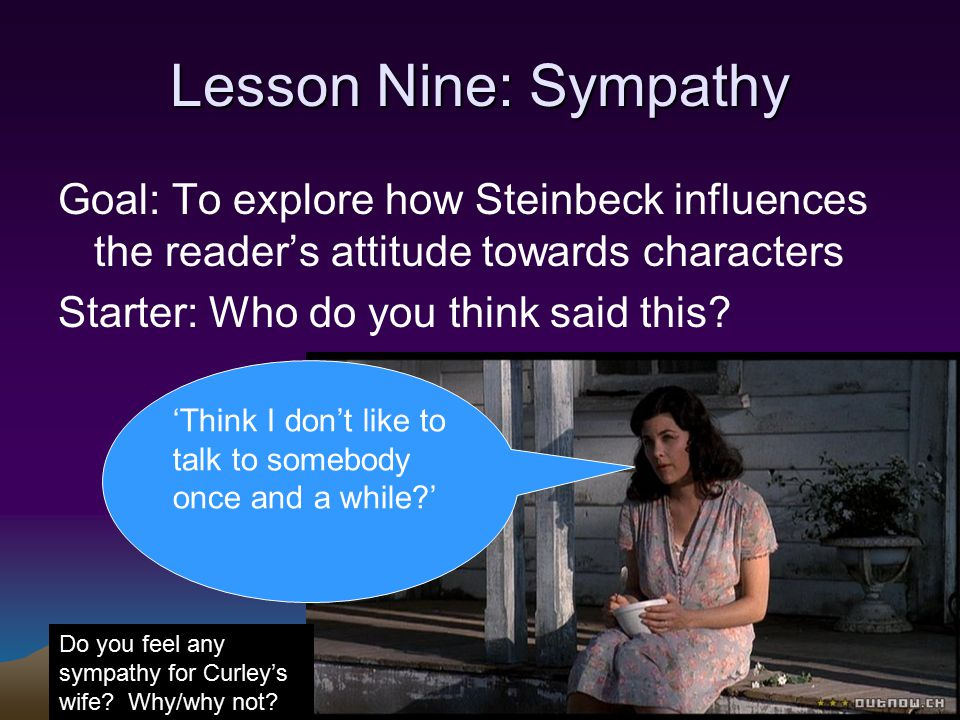 how does steinbeck explore different attitudes Extracts from this document introduction how does steinbeck explore different attitudes to women in of mice and men in this essay i will analyse how steinbeck.