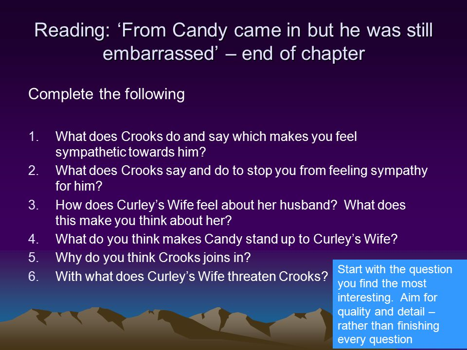 how does steinbeck evoke sympathy for curleys wife Curley s wife is one of the key significant characters in of mice and men steinbeck presents curley's wife as sympathy/or dislike is created for curley.