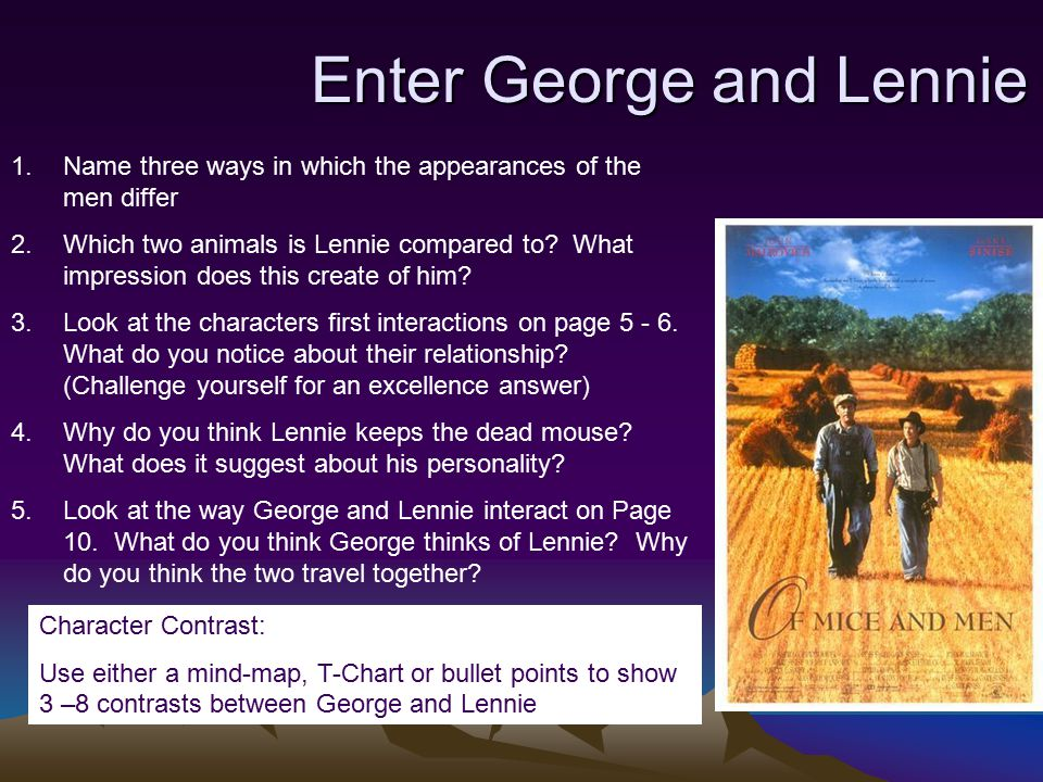 of mice and men essay lennie and george Of Mice And Men George And Lennie Essay — 326732