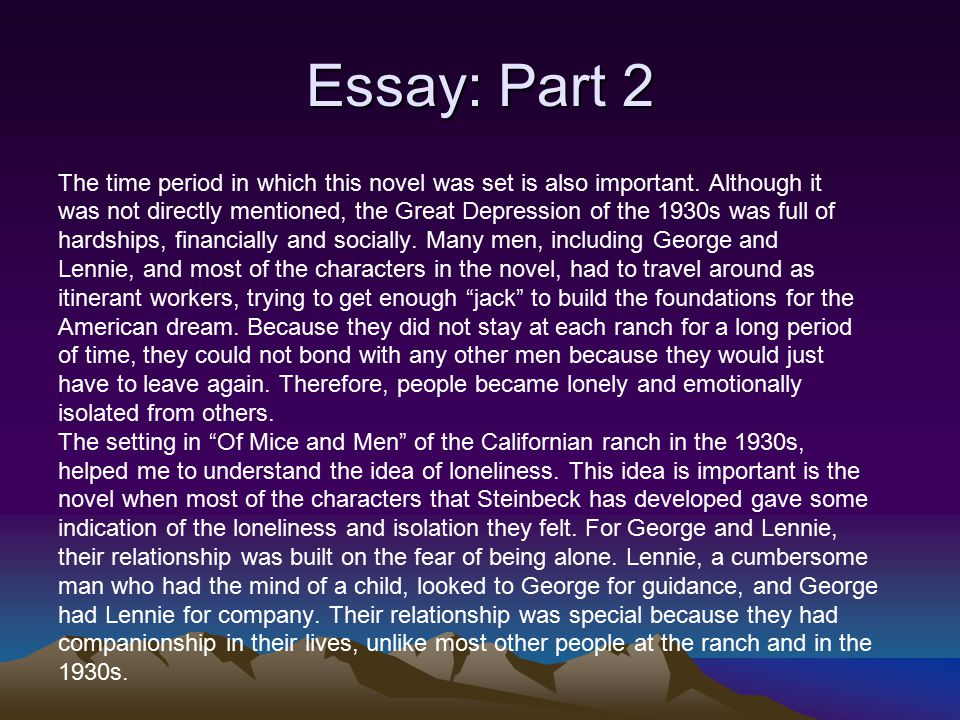 why do george and lennie travel together 2 essay Of mice and men chapter 1 summary - of mice and men by john steinbeck  chapter 1 summary and analysis  the story begins with george milton and  lennie small traveling together along the  not only is george the brains and  lennie the braun, but their looks are dissimilar  of mice and men chapter 2  summary.