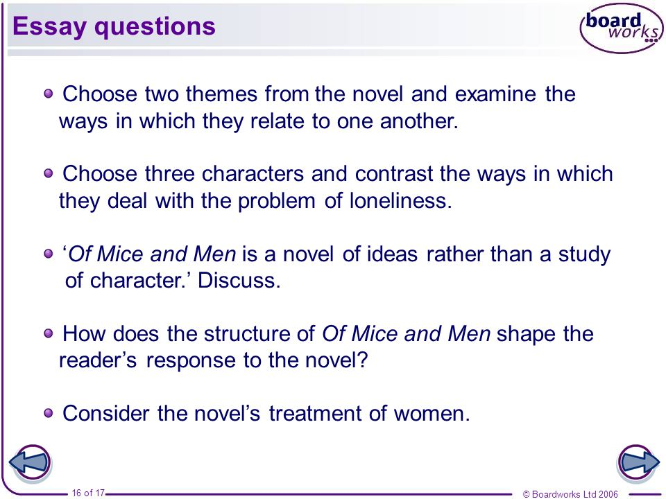 sparknotes of mice and men suggested essay topics of mice and men critical essays