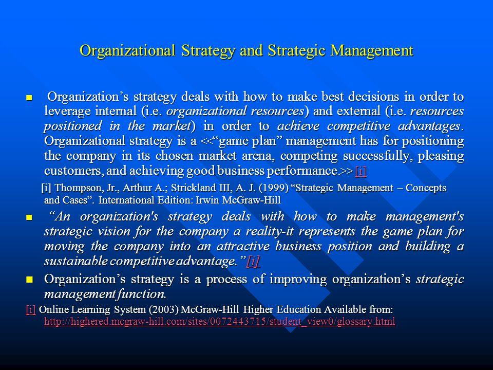 theories of strategic management pdf