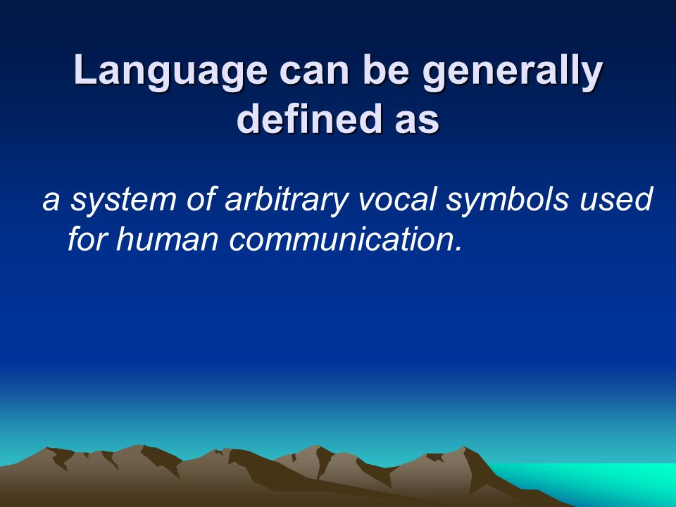 Arbitrary Symbolic Nature Of Human Language