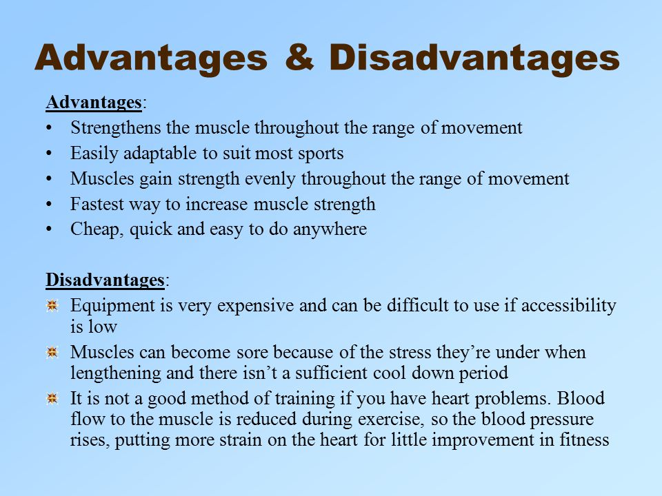Disadvantages of Physical Fitness