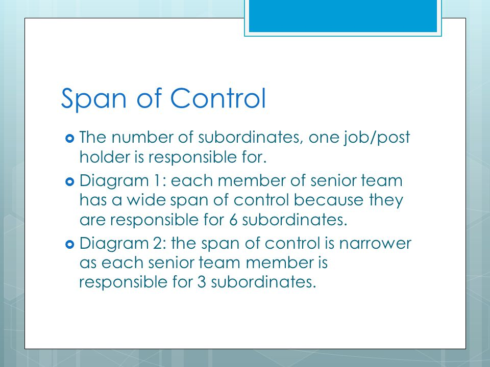 Improving organisational structures ppt download 8 span of control publicscrutiny Gallery
