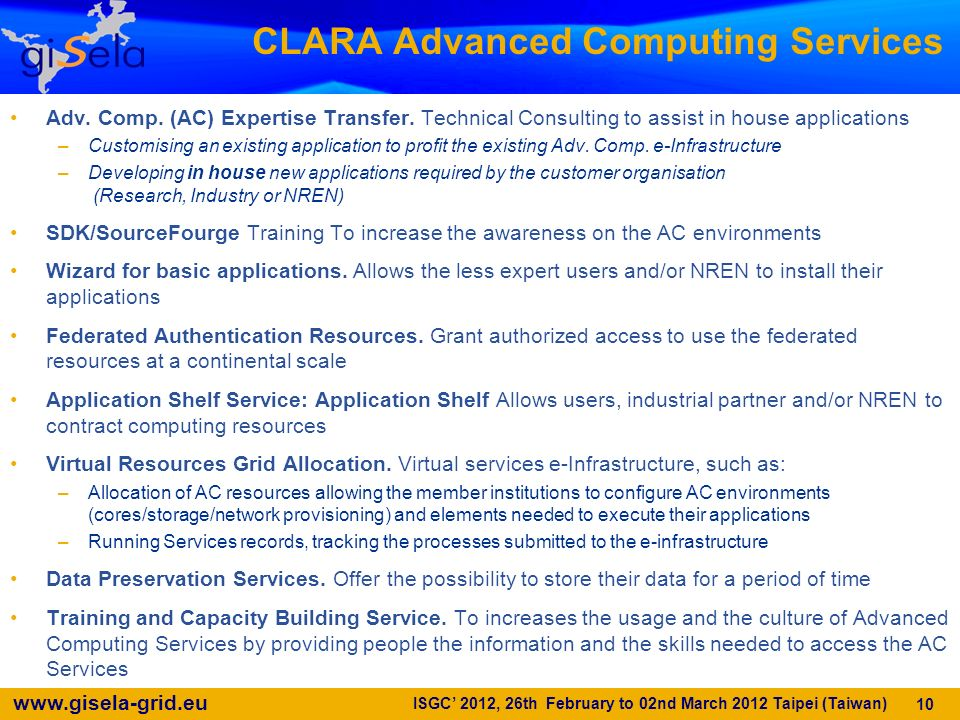 CLARA Advanced Computing Services