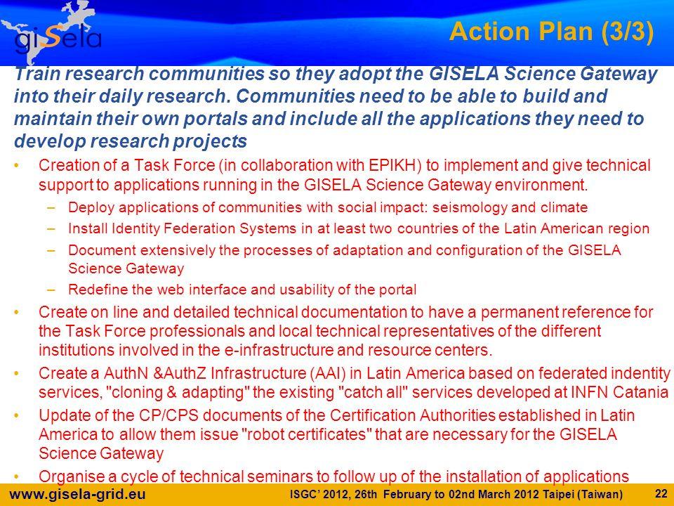 Action Plan (3/3)