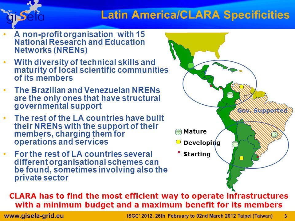Latin America/CLARA Specificities